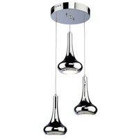 ARTCRAFT South Beach LED Pendant in Chrome AC10074