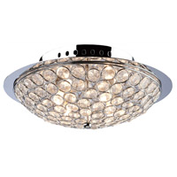 Gage Park 3 Light 10 inch Chrome Flush Mount Ceiling Light