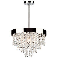 Elegante 4 Light 16 inch Chrome Chandelier Ceiling Light