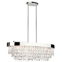 Elegante 5 Light 12 inch Chrome Chandelier Ceiling Light