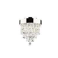Elegante 3 Light 10 inch Chrome Chandelier Ceiling Light