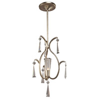 Artcraft Lighting Madison 1 Light Single Pendant in Silver Leaf AC10131