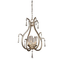 Madison 4 Light 23 inch Silver Leaf Chandelier Ceiling Light