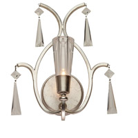 Madison 1 Light 12 inch Silver Leaf Wall Bracket Wall Light