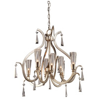 Madison 8 Light 25 inch Silver Leaf Chandelier Ceiling Light