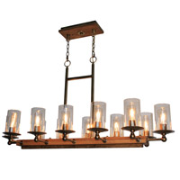 Legno Rustico 12 Light 47 inch Burnished Brass Island Light Ceiling Light