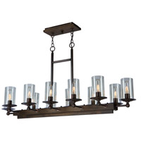 Artcraft Lighting Legno Rustico 12 Light Island Light in Brunito AC10140BU