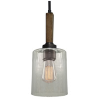 Legno Rustico 1 Light 7 inch Brunito Bronze Pendant Ceiling Light