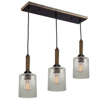 Artcraft AC10143BU Legno Rustico 3 Light 26 inch Brunito Bronze Island Light Ceiling Light