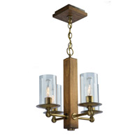 Legno Rustico 4 Light 16 inch Burnished Brass Chandelier Ceiling Light