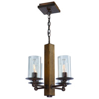 Legno Rustico 4 Light 16 inch Brunito Bronze Chandelier Ceiling Light