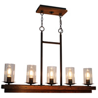 Legno Rustico 5 Light 38 inch Brunito Island Light Ceiling Light