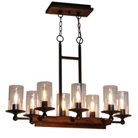 Artcraft Lighting Legno Rustico 8 Light Island Light in Brunito AC10148BU