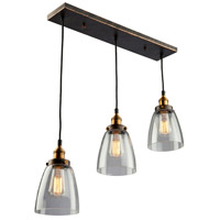 Greenwich 3 Light 5 inch Bronze and Copper Pendant Ceiling Light