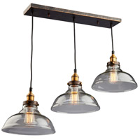 Greenwich 3 Light 10 inch Oil Rubbed Bronze Pendant Ceiling Light