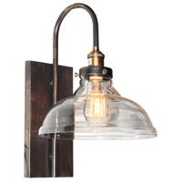 Artcraft AC10174 Greenwich 1 Light 10 inch Bronze and Copper Wall Sconce Wall Light