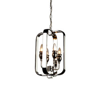 Artcraft AC10214 Gagetown 4 Light 11 inch Chrome Chandelier Ceiling Light