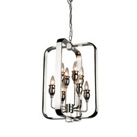 Artcraft AC10218 Gagetown 8 Light 15 inch Chrome Chandelier Ceiling Light