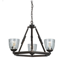 Artcraft Lighting Kent 3 Light Chandelier in Oil Rubbed Bronze AC10223OB