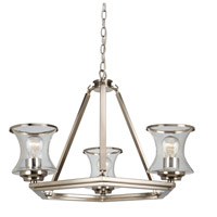 Dorsett 3 Light 22 inch Brushed Nickel Chandelier Ceiling Light