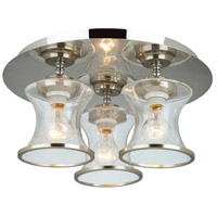 Dorsett 3 Light 18 inch Brushed Nickel Flush Mount Ceiling Light
