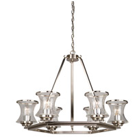 Dorsett 6 Light 30 inch Brushed Nickel Chandelier Ceiling Light