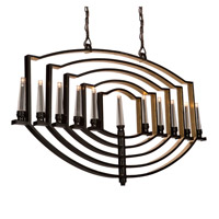 Perceptions 11 Light 2 inch Oil Rubbed Bronze Chandelier Ceiling Light
