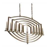 Perceptions 11 Light 2 inch Silver Leaf Chandelier Ceiling Light