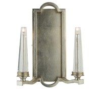 Perceptions 2 Light 10 inch Silver Leaf Wall Bracket Wall Light
