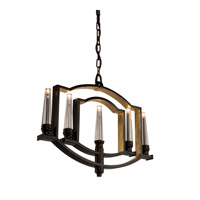 Perceptions 5 Light 2 inch Oil Rubbed Bronze Chandelier Ceiling Light