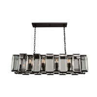 Artcraft AC10260 Palisades 10 Light 45 inch Matt Black Island Light Ceiling Light
