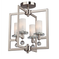 ARTCRAFT Melbourne 4 Light Semi Flush in Brushed Nickel AC10273
