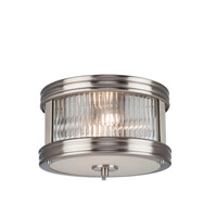 Bankroft 2 Light 10 inch Satin Nickel Flush Mount Ceiling Light