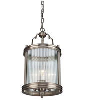 Bankroft 3 Light 10 inch Satin Nickel Pendant Ceiling Light