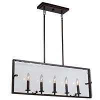 Harbor Point 5 Light 32 inch Oil Rubbed Bronze Island Light Ceiling Light