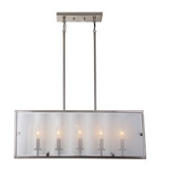 Artcraft AC10304SN Harbor Point 5 Light 32 inch Satin Nickel Island Light Ceiling Light