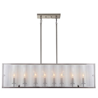 Harbor Point 8 Light 41 inch Satin Nickel Island Light Ceiling Light
