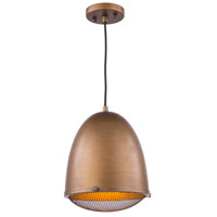 Artcraft AC10311 Retro Loft 1 Light 10 inch Bronze Pendant Ceiling Light