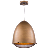 Artcraft AC10312 Retro Loft 1 Light 13 inch Bronze Pendant Ceiling Light