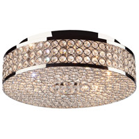 Bella Vista 5 Light 14 inch Chrome Flush Mount Ceiling Light