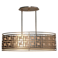 Keinilworth 4 Light 35 inch Silver Leaf Island Light Ceiling Light