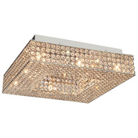 Artcraft Lighting Bella Vista 4 Light Flush Mount in Stainless Steel AC10345