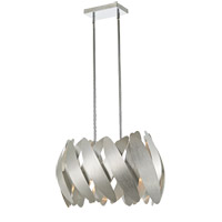 5th Avenue 6 Light 10 inch Brushed Nickel Pendant Ceiling Light