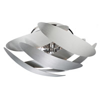 5th Avenue 4 Light 15 inch Brushed Nickel Flush Mount Ceiling Light