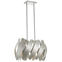 5th Avenue 9 Light 12 inch Brushed Nickel Pendant Ceiling Light