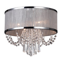 Valenzia 4 Light 16 inch Brushed Nickel Flush Mount Ceiling Light
