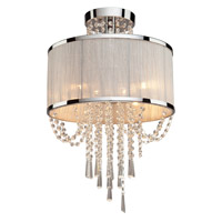 Valenzia 4 Light 16 inch Chrome Semi Flush Ceiling Light