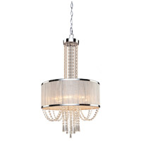 Artcraft AC10385 Valenzia 6 Light 20 inch Chrome Chandelier Ceiling Light