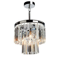 Artcraft AC10403CH El Dorado 3 Light 12 inch Chrome Chandelier Ceiling Light