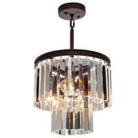 El Dorado 3 Light 12 inch Java Brown Chandelier Ceiling Light